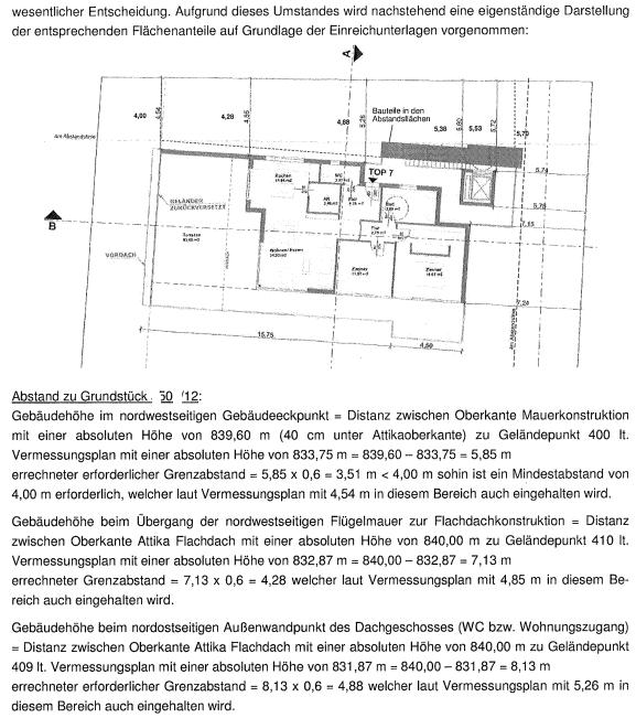 Grenzbebauung Carport: Berechnung Abstandsflachen Beispiel